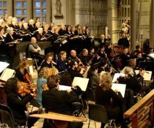 Orkest en koor in Luyksgestel